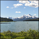 Maligne Lake, at the Entrance